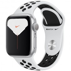 Apple Watch Nike Series 5 GPS 40mm Silver Aluminum Case Platinum Sport Band Black